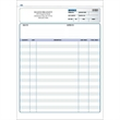 "Snap set invoice forms - Snap set 2-part invoice forms, 8 1/2"" x 11""."