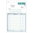 "Snap set sales order forms - Snap set 2-part sales order forms, 8 1/2"" x 11""."