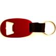 Jumbo size oval bottle opener key chain