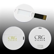 Round Credit Card USB Flash Drive - Round Credit Card USB Flash Drive