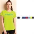 Gildan (R) Performance (TM) Ladies' T-Shirt - Ladies' T-Shirt. 100% polyester,4 1/2 oz. jersey knit body,moisture management & antimicrobial properties,heat transfer neck label