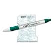 "4"" x 3"" 25 sheet stock design notepad + pen"