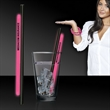 "Pink 9"" Light Up Glow Straw AND Bracelets"