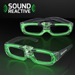 Sound Activated Lights Green Party Shades, 80s Style