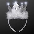 White LED Snow Queen Crown Tiara Headband