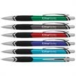Walton Accent Click Pen - Walton Accent Click retractable ballpoint pen with textured comfort grip and black and silver accents.