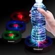 """3 1/2"""" Rainbow Light Up LED Glow Drink Coaster - Light up barware glow flashing drink coaster with rainbow LED."""