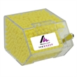 Large Candy Dispenser Bin with Colored Candy - Large house shaped candy bin dispenser with colored candy.