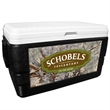 52 Quart Ice Chest with King's Camo Desert Wrap - 52 quart ice chest with camouflage wrap.