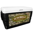 52 Quart Ice Chest with King's Camo Mountain Wrap - 52 quart ice chest with camouflage wrap.
