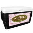 52 Quart Ice Chest with King's Camo Pink Wrap - 52 quart ice chest with camouflage wrap.