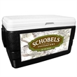 52 Quart Ice Chest with King's Camo Snow Wrap - 52 quart ice chest with camouflage wrap.