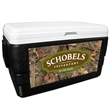 52 Quart Ice Chest with King's Camo Woodland Wrap - 52 quart ice chest with camouflage wrap.