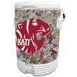 10 Gallon Beverage Cooler with King's Camo Desert Wrap - 10 gallon beverage cooler with camouflage wrap.