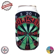 Dartboard Coolie - Collapsible foam dartboard shaped can coolie that fits most 12oz cans and bottles.