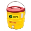 Industrial 3 Gallon Beverage Cooler - Industrial 3 Gallon Beverage Cooler red/yellow. Great for outdoors, sports, golf, and job sites.