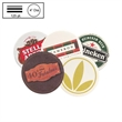 "4"" Circle Heavy Weight (125 pt) Pulpboard Coaster - Disposable 125 pt natural colored high density circular pulpboard coaster. Vivid full color/4 color process imprint."