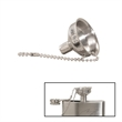 Mini Polished Stainless Steel Flask Funnel - Polished stainless steel miniature flask funnel. A great complement to your stainless steel flask.