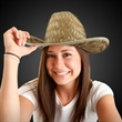 Western Cowboy Hat with Imprinted Hat Band