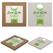 Square Absorbent Stone Coaster - Square shaped absorbent stone coaster with cork backing and pad printed graphics.