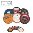"3.5"" Circle Light Weight Pulpboard Coaster w/4 Color Process - Light Weight 12pt 3.5"" circle shape pulpboard coaster with 4 color process printing."