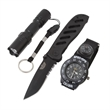 UZI Special Forces Gift Set - Special forces gift set includes black folding knife, watch, and L.E.D. light.