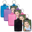 Translucent Sparkle Snap-In Key Tag