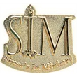 "1 1/8"" Power Stamped Lapel Pin in Iron"