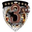"3"" Color Shield Medallion 3RD PLACE"