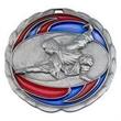 "2 1/2"" Color Epoxy Medallion MARTIAL ARTS in Silver"