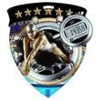 "3"" Color Shield Medallion SWIMMING (Female)"