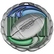 """2 1/2"""" Color Epoxy Medallion FOOTBALL in Gold"""
