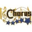 """1 1/4"""" Music Award Lapel Pin CHORUS"""