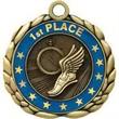 "2 1/2"" Antique Gold QCM Medal TRACK"