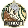 """2"""" High Tech Medallion TRACK in Gold"""
