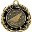 "2 1/2"" Antique Gold QCM Medal CHEERLEADER"