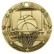 3'' World Class Basketball Medallion (G)