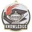 "2"" High Tech Medallion BOOK & LAMP in Gold"