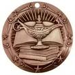 3'' World Class Book & Lamp Medallion (B)