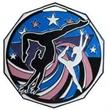 "2"" Decagon Colored Medal GYMNASTICS (Female)"
