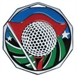 """2"""" Decagon Colored Medal GOLF"""