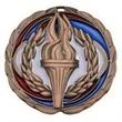 "2 1/2"" Color Epoxy Medallion VICTORY in Bronze"