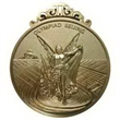 "1 1/2"" Power Stamped Iron Medal - Soft Enamel"