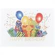 """It's A Birthday Party Card - New greeting card with """"Happy Birthday"""" on the front with presents, balloons and confetti."""