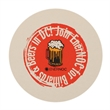 """40 PT 4.0"""" Round Coaster - Recyclable / Biodegradable 40 pt. Round Coaster, 4"""". Made from renewable resources."""