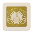 """40 PT 4.0"""" Square Coaster - Recyclable / Biodegradable 40 pt. Square Coaster, 4"""". Made from renewable resources."""