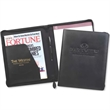 Zippered Decision Maker Portfolio - Bonded leather zippered portfolio with writing pad insert, large pen loop, inside pockets and zippered closure.