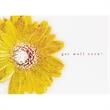 Sunflower Get Well Greeting Card - New greeting card with yellow embossed sunflower Get Well design on white stock with red foil stamping.