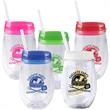 Bev2Go 10 oz. Tumbler - New 10 oz. acrylic tumbler with snap-on lid, clear straw, and PMS matching inks
