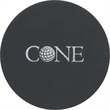 """Coasters - Customizable round cowhide leather coaster with felt backing to prevent sliding. Measures 4 1/4"""" in diameter."""